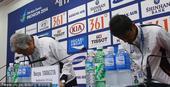 组图:日本游泳选手偷相机 代表团团长鞠躬道歉