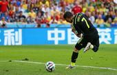 高清图:西班牙3-0澳大利亚 比利亚脚后跟破门