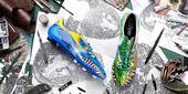 高清图:日本名家设计全新F50战靴 梦幻蓝绿配色