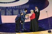 搜狐娱乐讯 2014年4月23日,第四届北京国际电影节闭幕式现场,最佳音乐奖《声梦奇遇》。