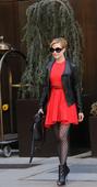 好莱坞街拍周报:红色铺满好莱坞