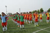 高清图:2014足球梦北京海选 小球员们整装待发