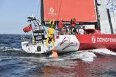 高清:沃帆赛第九赛段起航 驶向赛事终点哥德堡