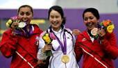北京时间8月2日,2012年伦敦奥运会射箭女子个人赛结束决赛争夺。韩国箭手奇甫倍与墨西哥箭手阿依达在...