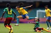 高清:奥运女足巴西对喀麦隆 桑巴军团暂时领先
