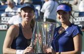 高清:巴黎银行赛 辛吉斯米尔扎组合夺女双冠军