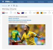 全球媒体:巴西斩雄狮获头名 内马尔领跑金靴榜