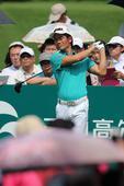 高清:中国高尔夫公开赛决赛轮 梁文冲75杆收场
