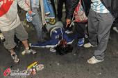 高清图:阿根廷国内暴乱 球迷血流满面警察出动