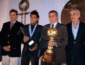 幻灯:内马尔获南美足球先生 塔巴雷斯最佳主帅