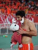 高清:鲁能3-0国安 野牛梅开二度飞踹角旗庆祝