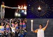 组图:里约奥运圣火点燃 小小火焰唯美旋转升空