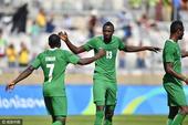 男足尼日利亚胜洪都拉斯摘铜 悍将梅开二度(图)
