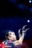 高清图:乒球女团首轮 华裔选手领徳胜澳大利亚