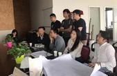 高清图:邹市明夫妇上海黄浦江畔考察拳馆施工