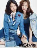 搜狐韩娱讯 29日,韩国组合SISTAR成员宝拉和多顺为某时尚杂志拍摄的画报公开,身穿个性牛仔装展现...