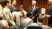 杰克逊死亡案庭审现场 莫里过失杀人罪名成立