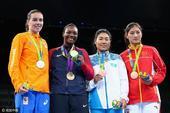 组图:李倩女拳中量级摘铜 美国选手咬金庆夺冠