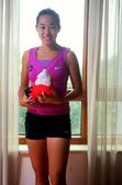 搜狐体育记者独家拍摄中国网球金花写真,张帅笑容甜美可人。(摄影/搜狐体育 李志岩)