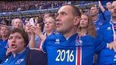 任性!冰岛总统不坐包厢 上看台拥球迷怒吼(图)