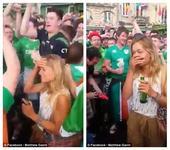 揭秘爱尔兰球迷女神:19岁金发嫩模 兼职救生员