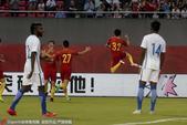 高清:U22国足1-0马来西亚 向柏旭头槌破门庆祝