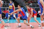 高清图:俄罗斯男排胜塞尔维亚 实力强大难撼动