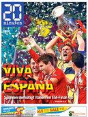 高清:斗牛士勇夺欧洲杯 西班牙队占据报纸头版