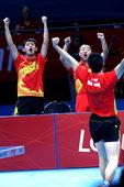 独家:中国男乒力克德国晋级 握拳庆祝霸气尽显