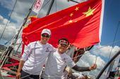 高清:沃尔沃环球帆船赛结束 中国东风队第三名
