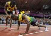 """北京时间8月10日凌晨,2012年伦敦奥运会男子200米跑的决赛在""""伦敦碗""""内上演。牙买加飞人博尔特..."""