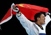 北京时间8月12日凌晨,2012年伦敦奥运会继续第15日角逐。在ExCeL展览中心进行的跆拳道男子8...
