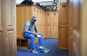 组图:英国公开赛 更衣室里众球员做最后的准备