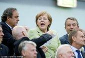 政要也爱欧洲杯:默克铁杆球迷 西班牙王妃抢眼
