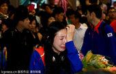 高清图:韩国女剑手归国仍感委屈 机场崩溃痛哭