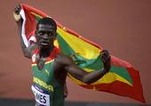 高清图:男子400米詹姆斯夺冠 创格林纳达历史