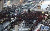 高清:韩总统竞选进入白热化 民众街头助选