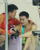 北京时间2012年8月8日,2012年伦敦奥运会跳水男子3米板决赛,何冲、秦凯冲击金牌。更多奥运视频...