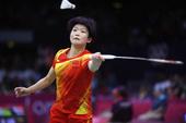 高清图:羽毛球女单小组赛 汪鑫2-0美选手获胜