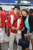 2012年7月24日,中国举摔柔三队出征伦敦奥运。(搜狐-徐江、张亮/摄)