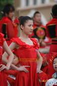 7月19日,境内辽宁省大连市传递奥运圣火,现场美丽的礼仪小姐。