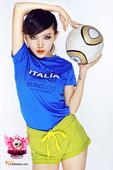 高清:欧洲杯女王十强展示 大眼美女力挺意大利
