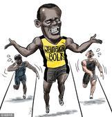 漫画:无敌是一种寂寞! 男子200米博尔特加冕