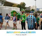 前方图:直击马拉卡纳体育馆 游客造型独特吸睛