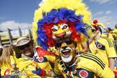 高清图:C组赛场直击 哥伦比亚球迷造黄色海洋