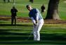 高清图:库里参加职业高尔夫球赛 挥杆动作潇洒