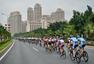 高清图:环福州自行车赛第一赛段 拉希姆获黄衫