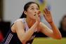 高清图:中国女排3-0韩国 朱婷发球稳健霸气庆祝