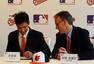 高清:中国少年正式签约MLB 许桂源戴上金莺帽