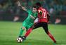 高清图:国安主场4-0辽足 索里亚诺建功秀庆祝